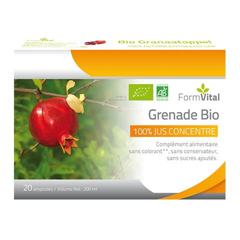 Jus concentré de grenade Bio, un produit akéo