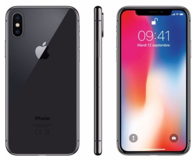 APPLE iPhone X Gris 256 Go Gris Sidéral
