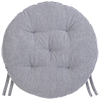 Galette de chaise ronde BASAL - Rayal Carbone - LF3084